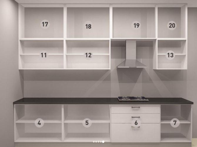 Bản vẽ thiết kế tủ bếp bên phải