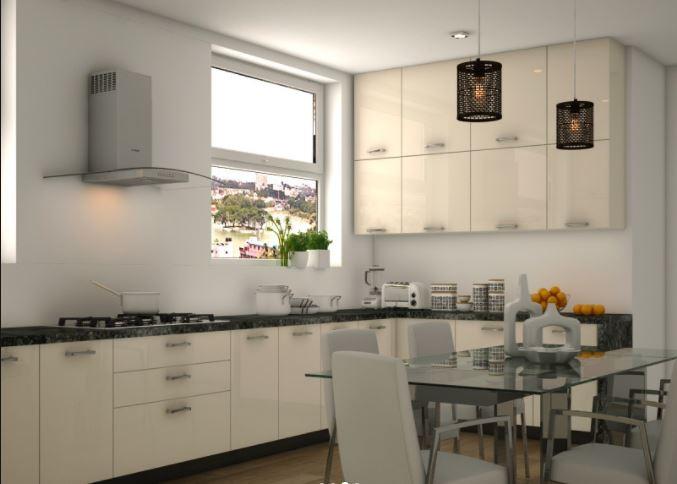 Mẫu tủ bếp acrylic dáng chữ U đẹp MS PARC 48