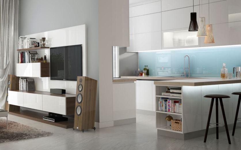 Nội thất phòng bếp và kệ Tivi phòng khách - Căn hộ Anh Hòa
