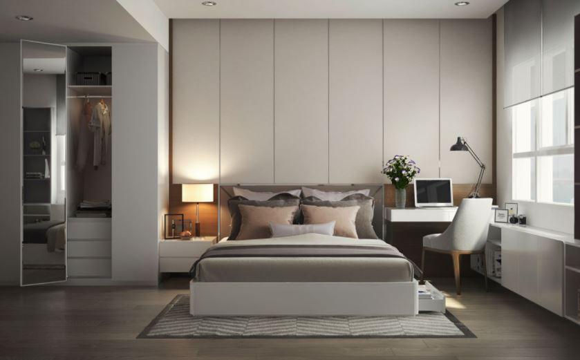 Nội thất phòng ngủ Master - Căn hộ Anh Hòa