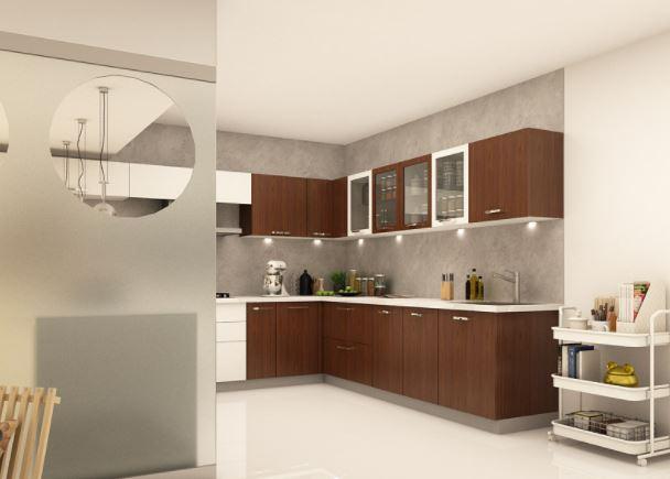 Thiết kế mẫu tủ bếp chữ U đẹp MS 336 WG