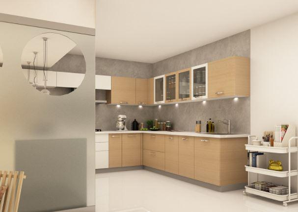 Thiết kế mẫu tủ bếp dáng chữ U MS 603 MM