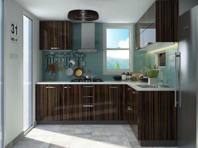 Thiết kế mẫu tủ bếp gỗ chữ L