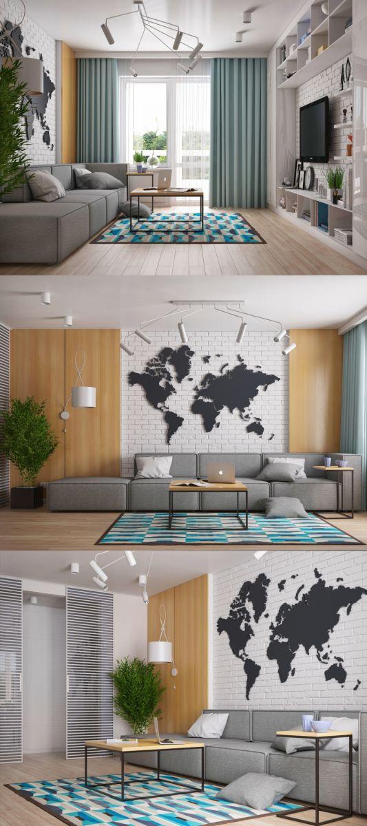 Thiết kế nội thất phòng khách căn hộ Chung Cư Harmona