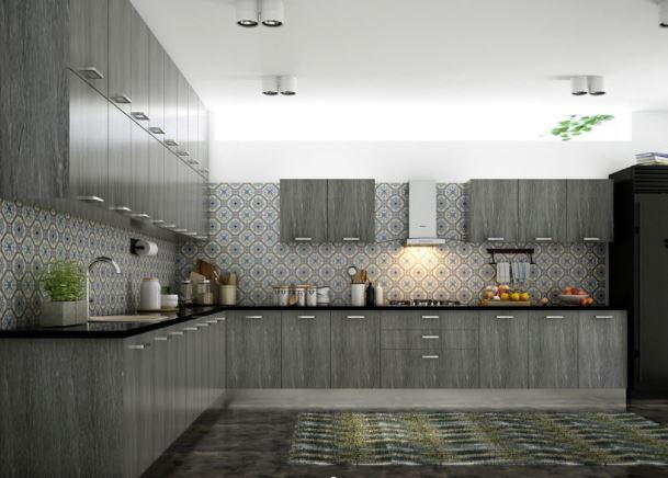 Tủ bếp dáng chữ L đẹp