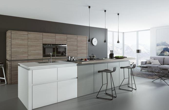 Kết hợp phòng bếp và phòng khách giúp cho ngôi nhà thêm gắn kết