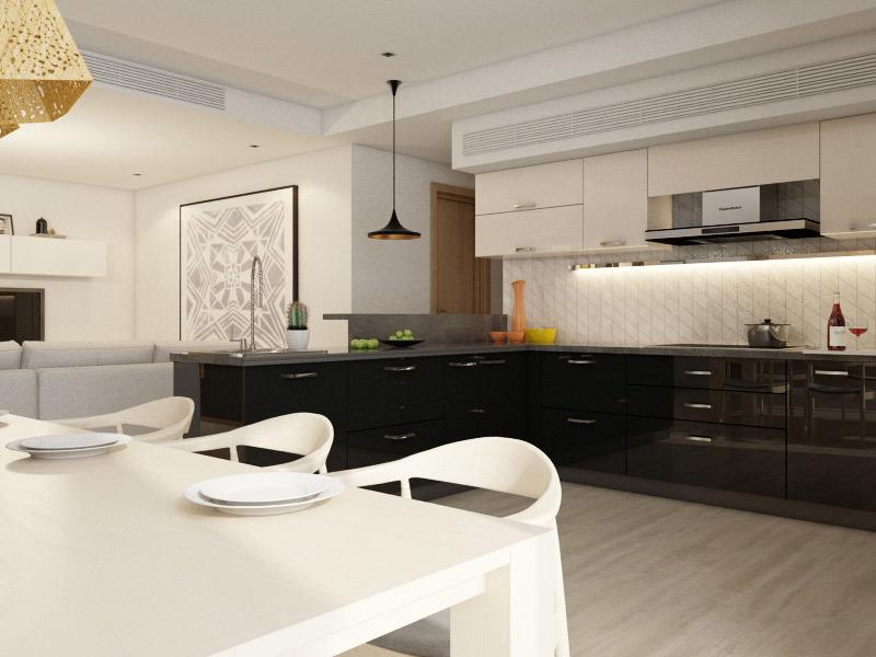 Tủ bếp gỗ chữ U