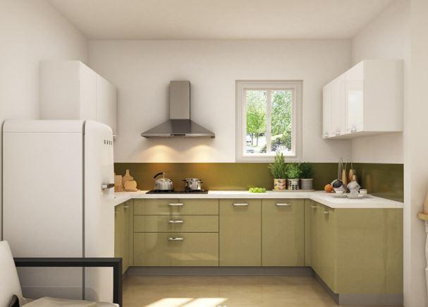 Tủ bếp gỗ chữ U đẹp