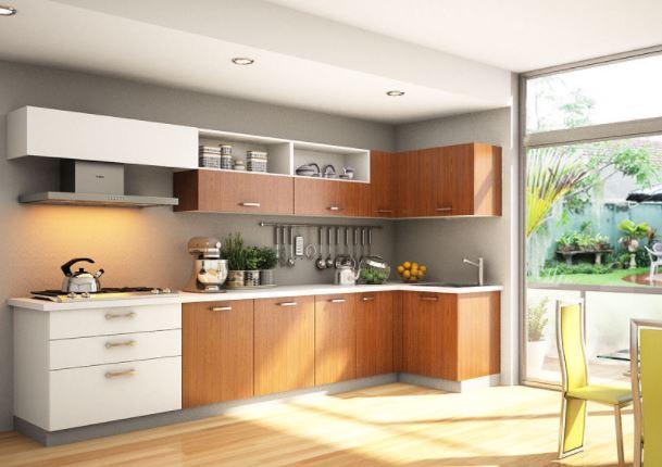 Tủ bếp gỗ dáng chữ L - MS 303 T