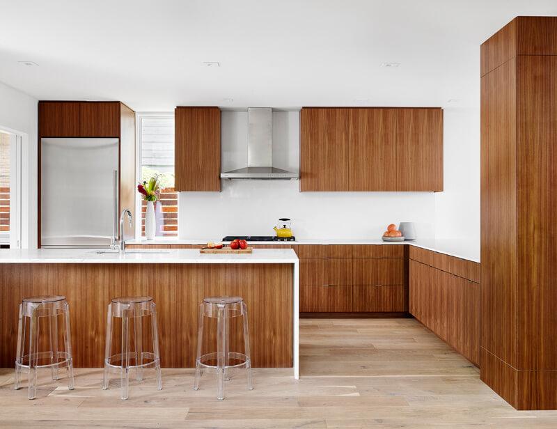 tủ bếp laminate đẹp hiện đại