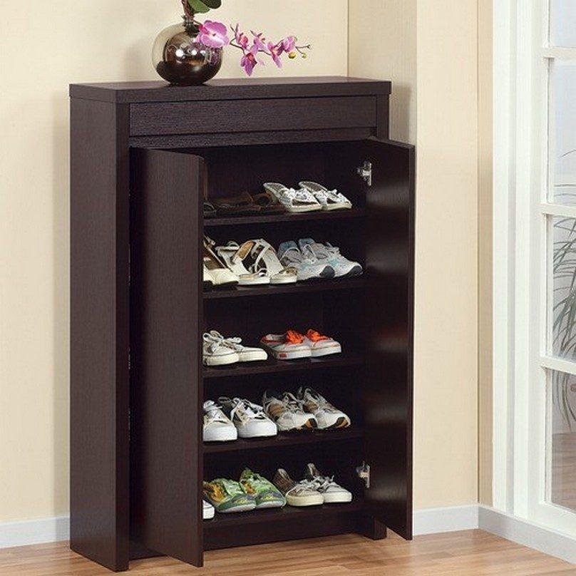 tủ giày gỗ veneer xoan đào