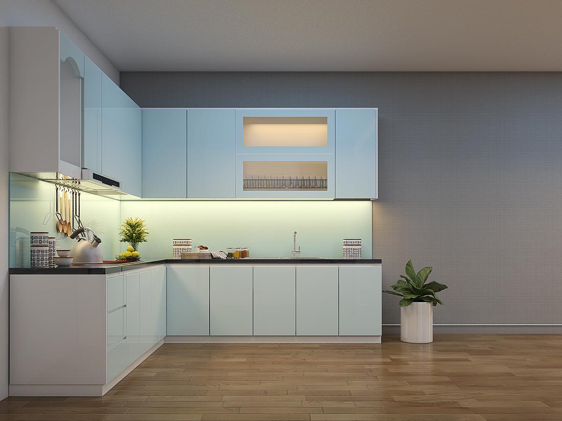 Tủ Bếp Gỗ Acrylic An Cường Đẹp   Thi Công Tủ Bếp Giá Rẻ Tại Xưởng