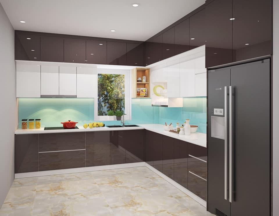 Tủ Bếp Gỗ Acrylic Đẹp An Cường   Thi Công Tủ Bếp Gỗ Đẹp An Cường