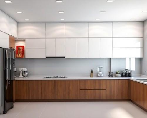 Tủ bếp chữ L là dạng tủ bếp được ưa chuộng nhiều nhất hiện nay