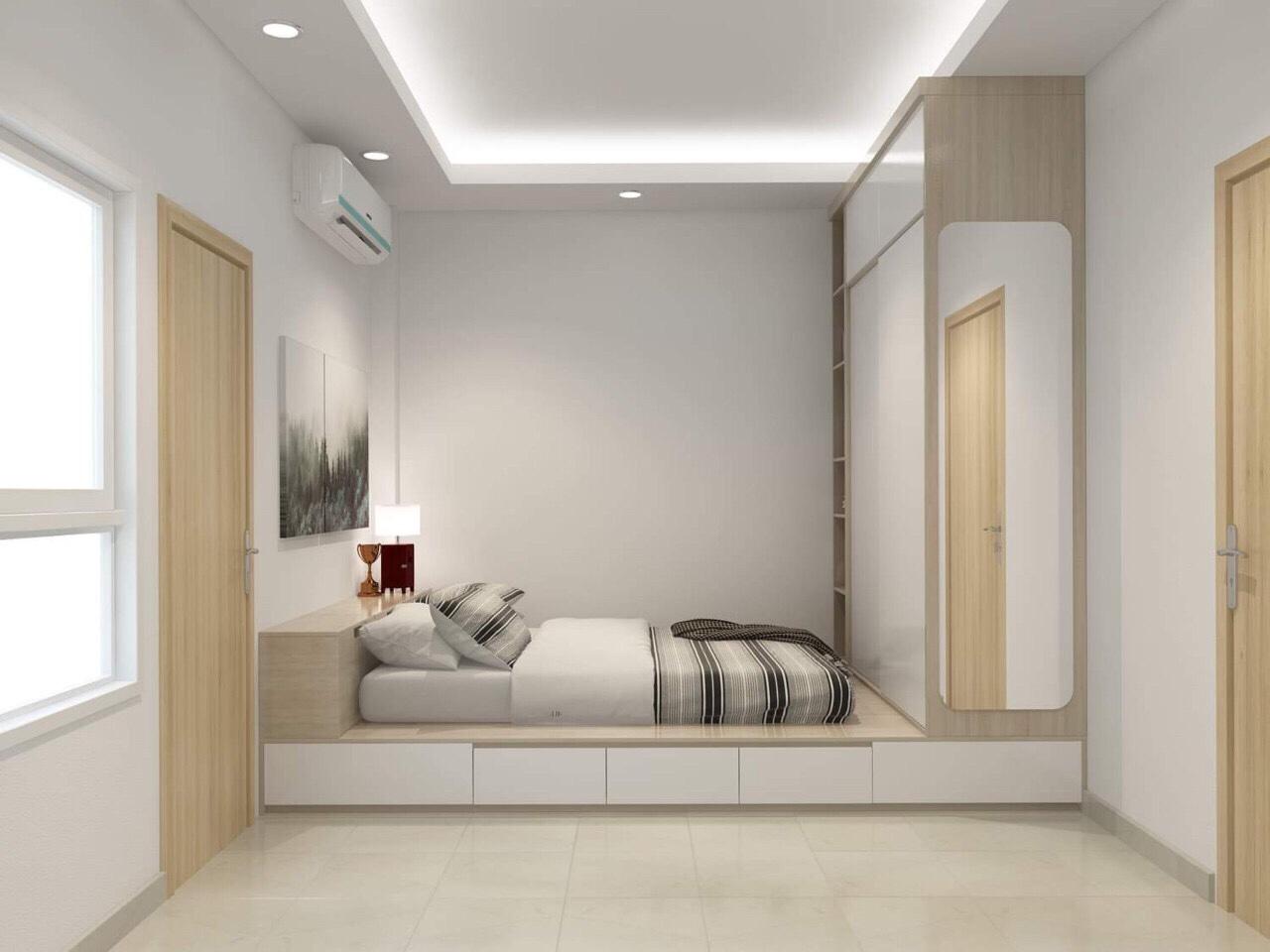 Giường Giật Cấp - Mẫu Giường Ngủ Giật Cấp Đẹp Hiện Đại
