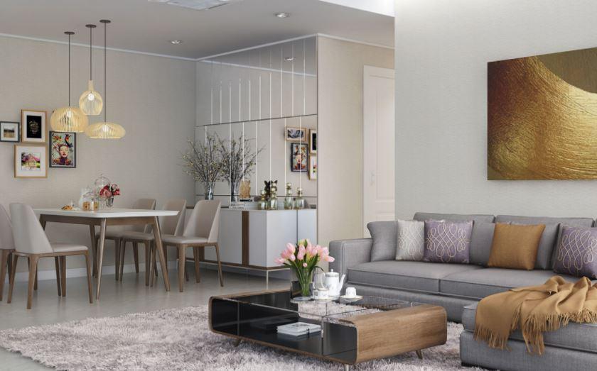 Nội thất phòng khách và bàn ăn gia đình - Căn hộ Anh Hòa