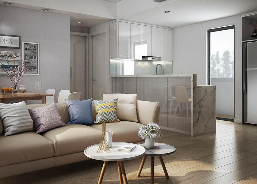 Thiết kế nội thất căn hộ 2 phòng ngủ với diện tich 60m2 - Căn hộ Chị Ngân