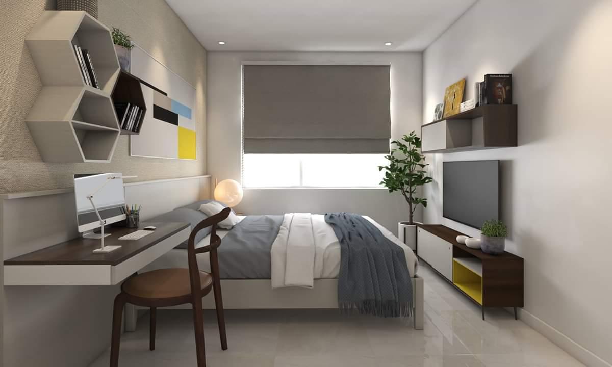 nội thất phòng ngủ Master căn hộ Wilton Tower Chị Yến - Bình Thạnh