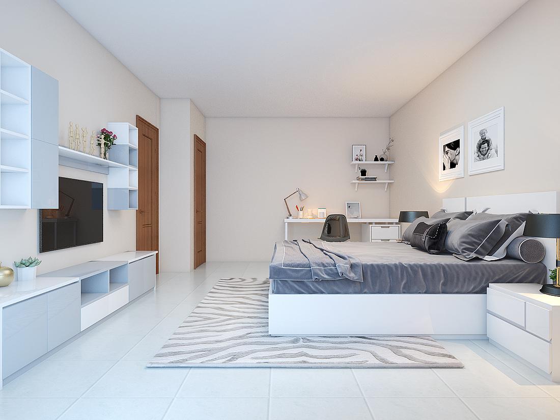 Thiết kế nội thất nhà đẹp hiện đại chị Tám - Tp. Tân An