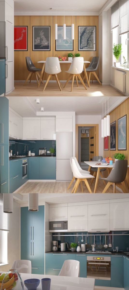 Thiết kế nội thất phòng bếp căn hộ Chung Cư Harmona