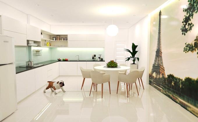 Thiết kế nội thất phòng bếp đẹp đơn giản