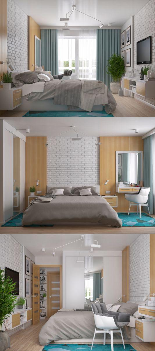 Thiết kế nội thất phòng ngủ căn hộ Chung Cư Harmona