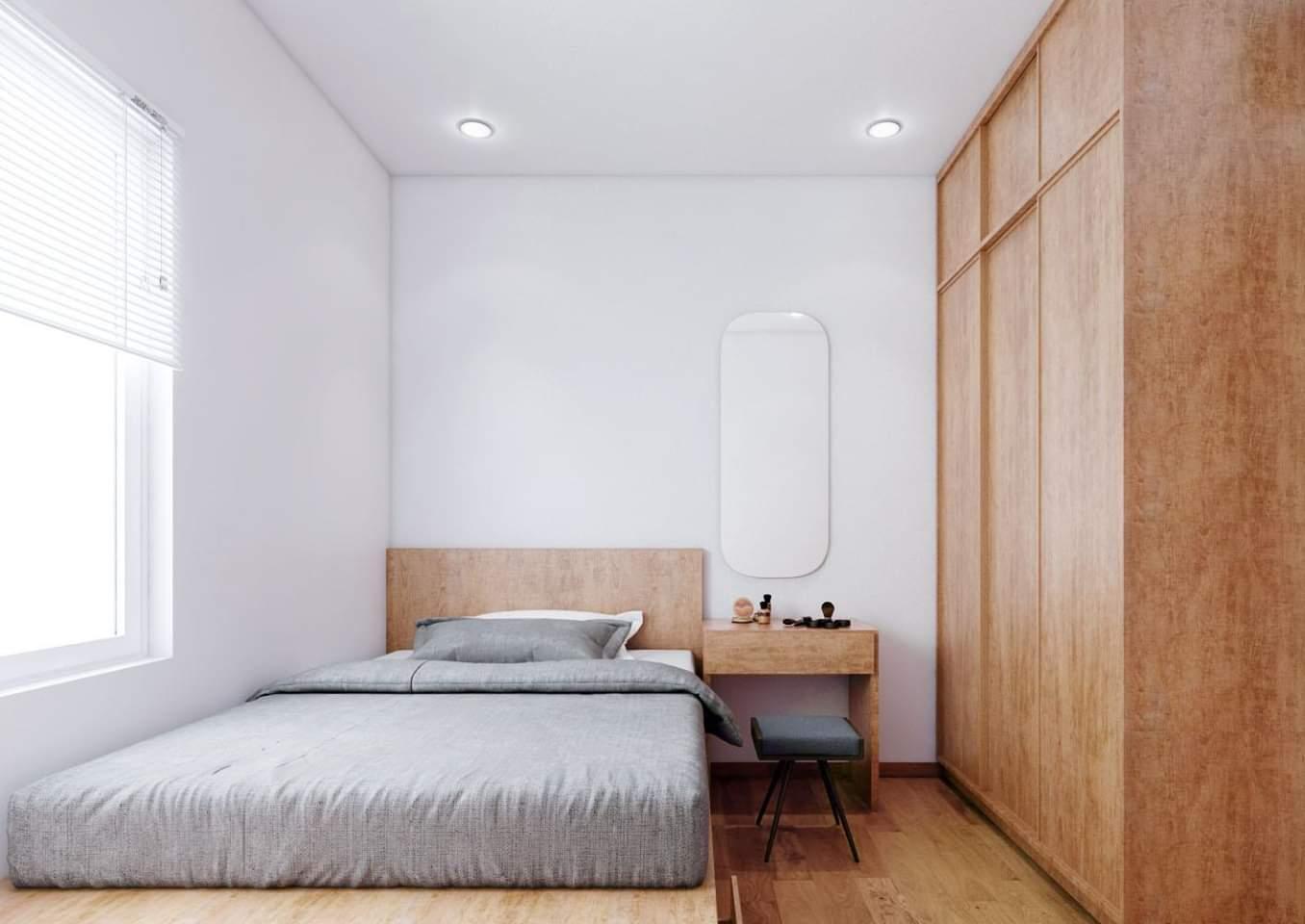 - Phối cảnh nội thất phòng ngủ Master căn hộ chung cư The Era Town - Quận 7
