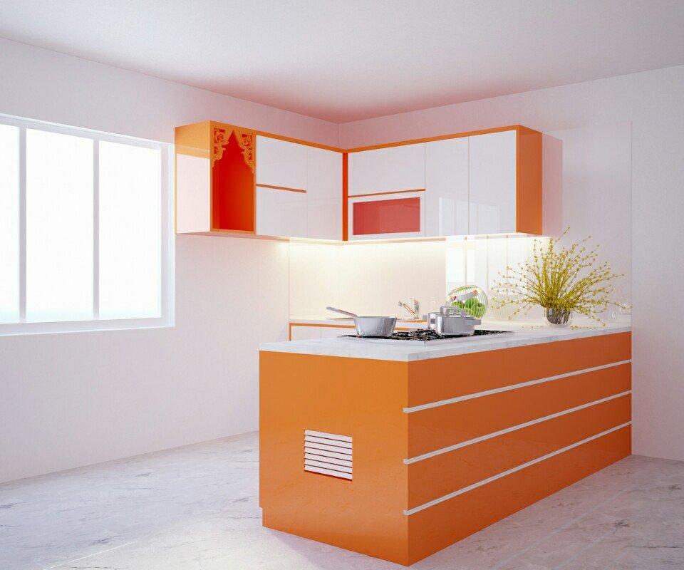 Thiết Kế Nhà Bếp Đơn Giản Đẹp | Thiết Kế Tủ Bếp Theo Yêu Cầu