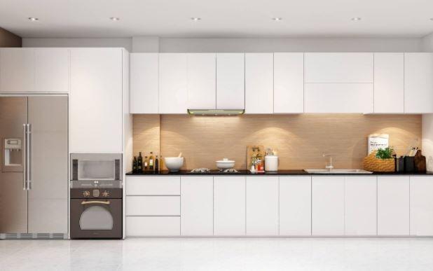 Thiết kế Mẫu Tủ Bếp Melamine