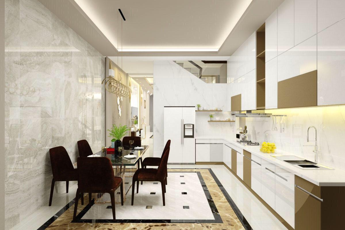 Tủ Bếp Acrylic Đẹp Giá Rẻ An Cường - Thi Công Tủ Bếp Gỗ An Cường