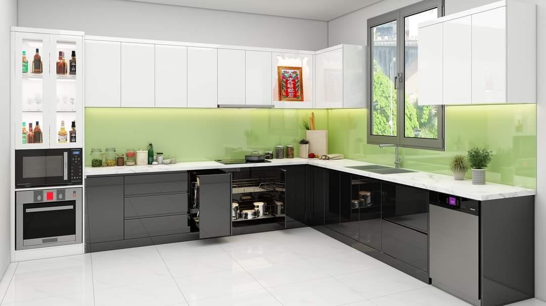 Tủ Bếp Acrylic Đẹp Giá Rẻ Hiện Đại