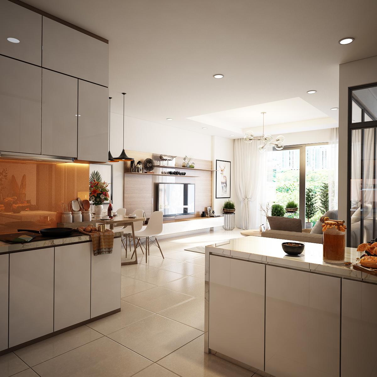 Tủ Bếp Acrylic Đẹp Giá Rẻ Thủ Đức   Thi Công Nội Thất Phòng Bếp