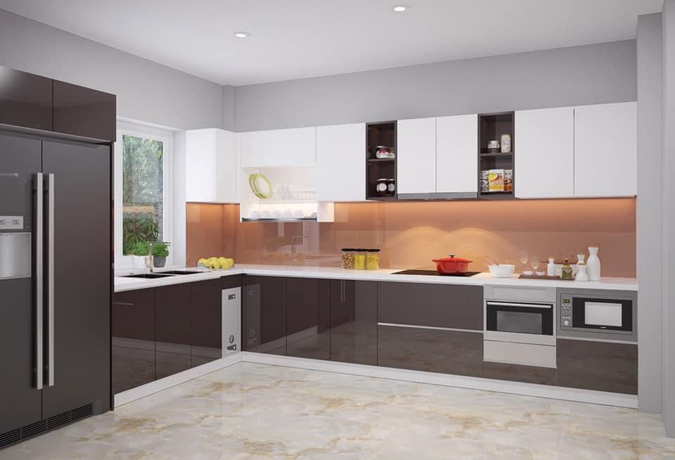 Tủ Bếp Gỗ Acrylic Đẹp An Cường