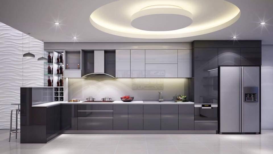 Tủ Bếp Gỗ An Cường Hiện Đại Đẹp HCM - Thi Công Tủ Bếp Theo Yêu Cầu