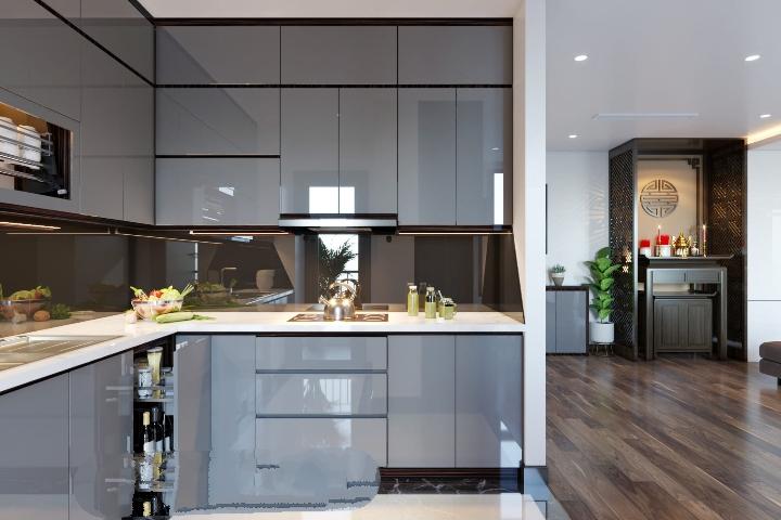 Tủ Bếp Gỗ Giá Rẻ Hiện Đại Tại Thủ Đức - Tủ Bếp Gỗ An Cường