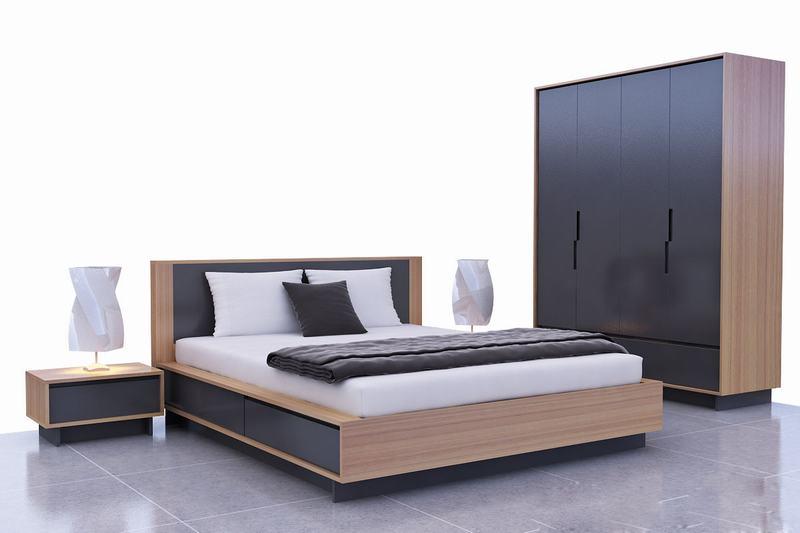 Giường Ngủ Gỗ MDF Phủ Melamine | Giường Ngủ Giá Rẻ Thủ Đức