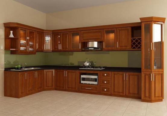 Mẫu Tủ Bếp Gỗ Tự Nhiên Đẹp | Tủ Bếp Gỗ Đẹp